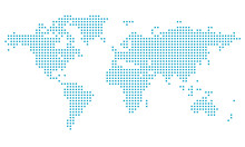 Dotted World Map,map Template ...