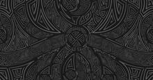 Viking Rune. Scandinavian Odin Symbol. Metal Chain.