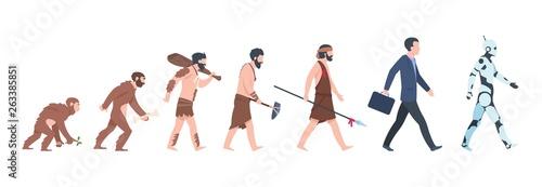 Fototapeta  Human evolution