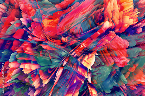 Deurstickers Paradijsvogel Abstract Energy Background. Illustration Energy Background.