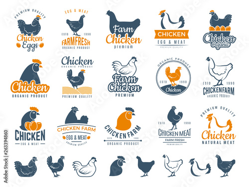 Fotografia, Obraz Chicken badges