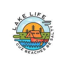 Lake Life Logo Design. Modern ...