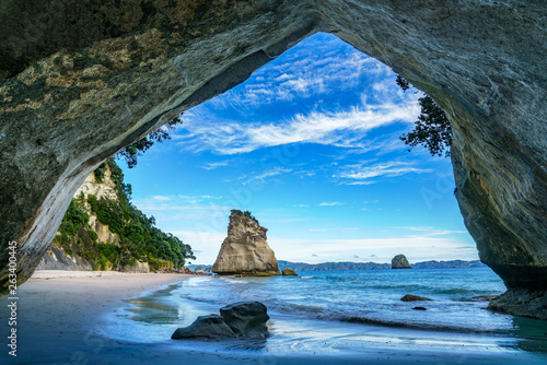 Aluminium Prints Cathedral Cove view from the cave at cathedral cove,coromandel,new zealand 46