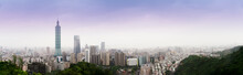 The Cityscape Panorama View The Tallest Building And The Famous Landscape Which The Beautiful Place For Travel  In Taiwan From Elephant Mountain