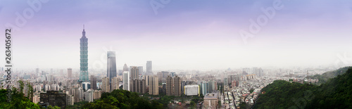 Photo  The cityscape panorama view the tallest building and the famous landscape which