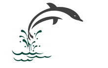 Illustration Of Dolphin Jumping On The Wave