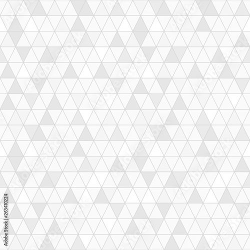 fototapeta na szkło Triangle seamless pattern vector, random gray shade.