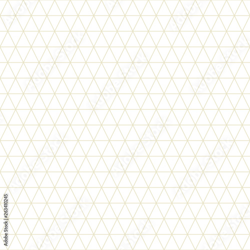obraz PCV Triangle seamless pattern vector, gold line.