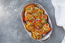 Vegetarian Dish With Peppers S...