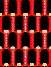 British Guardsman Pattern Seamless. London Queens Guard Ornament. English Military In Beefeater Background.