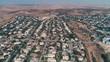 aerialshot villa neighborhood