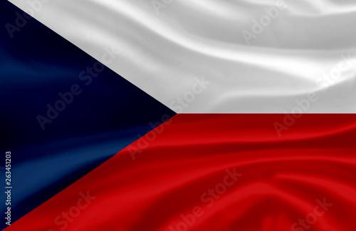 Photo  Czech Republic waving flag illustration.