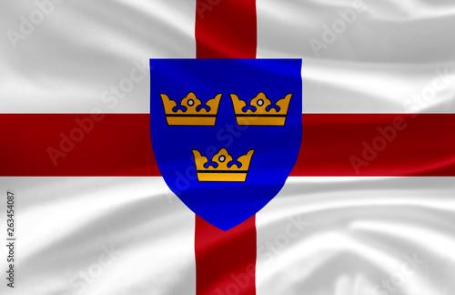 Fotografija East Anglia waving flag illustration.