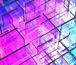 Leinwanddruck Bild - カラフルなガラスの抽象的な背景素材
