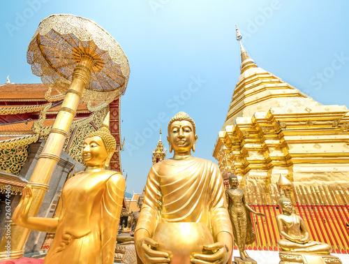 In de dag Temple Wat Phra That Doi Suthep, a Theravada Buddhist temple in Chiang Mai, Thailand.