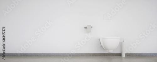 Fotomural  vue 3d wc suspendu 06