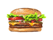 Fresh And Tasty Burger For Lun...