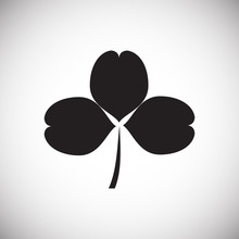 Clover Icon On Background For ...
