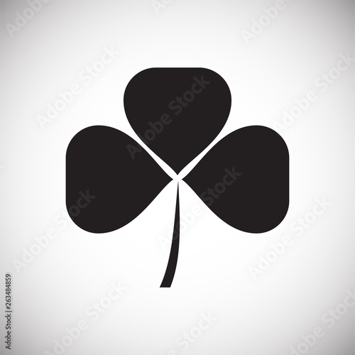 Fotomural Clover icon on background for graphic and web design
