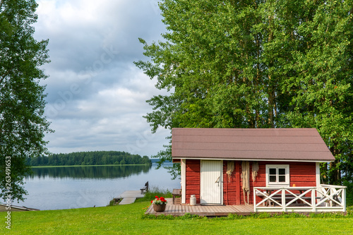 Lake landscape in Finland