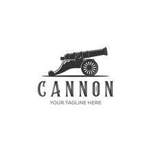 Cannon Icon Vector Isolated On...