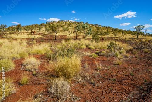 Slika na platnu hiking to joffre gorge lookout in karijini national park, western australia 6