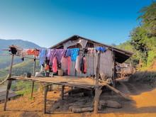 The Hut Of Black Lahu People I...