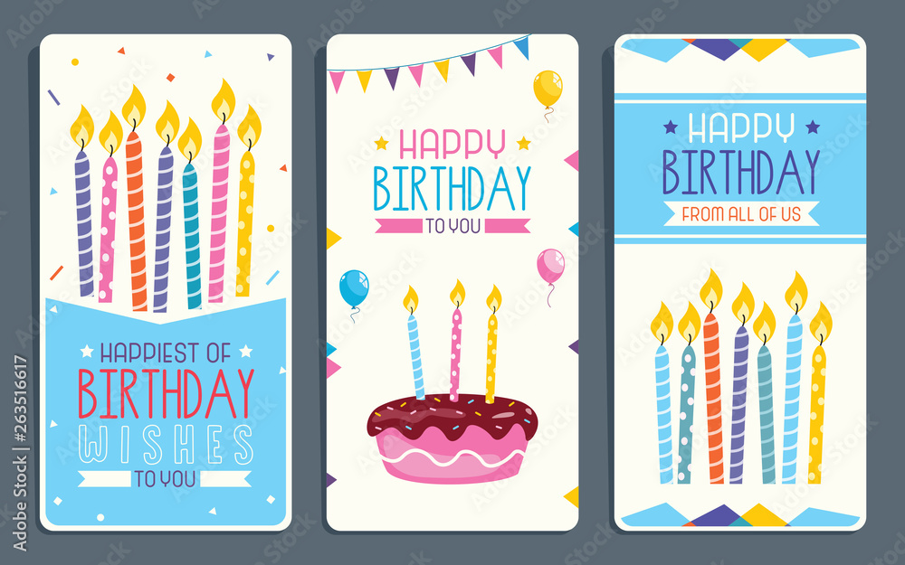 Vector Illustration Of Children Birthday Party Invitation