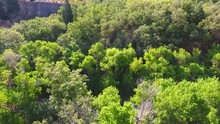 Aerial Video Of Provo River And Mountains In Provo Canyon