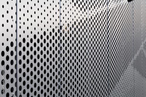 Obraz na plátne  Perforated metal panel