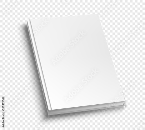 Obraz na plátně  White hardcover book isolated on white background