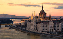 Cityscape Of Budapest With Bri...