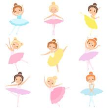 Cute Little Ballerinas Dancing...