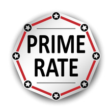Prime Rate Paper Label Banners Red Vector Illustration