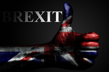 A Hand With A Painted UK Flag ...