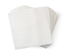 Pile Of Napkins On A White. Th...