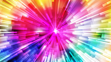 Abstract Colorful Burst Backgr...