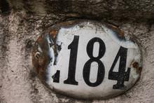 Vintage Number Door