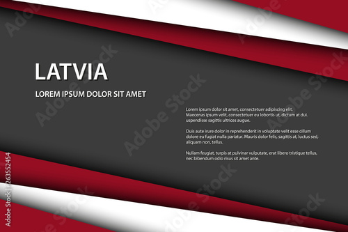 Fotografía  Modern vector background with Latvian colors and grey free space for your text,