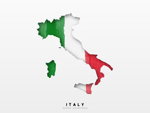 Italy Detailed Map With Flag O...