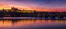 Prague Twilight Panorama