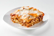 Freshly Baked Lasagna Piece On...