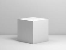 White Cube. 3d Render Illustration