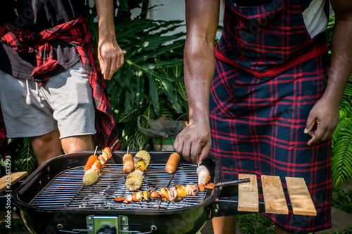 Photo Stands Grill / Barbecue barbecue and party.