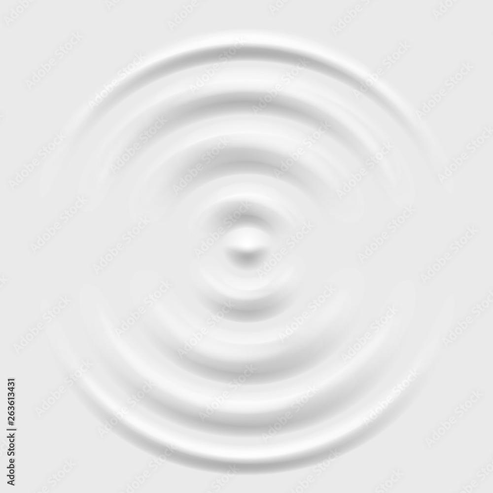 Fototapeta Splash ripple waves water surface decoration grey background vector illustration