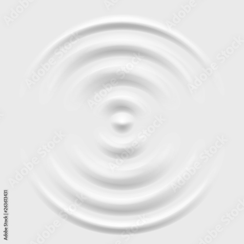 Valokuva Splash ripple waves water surface decoration grey background vector illustration