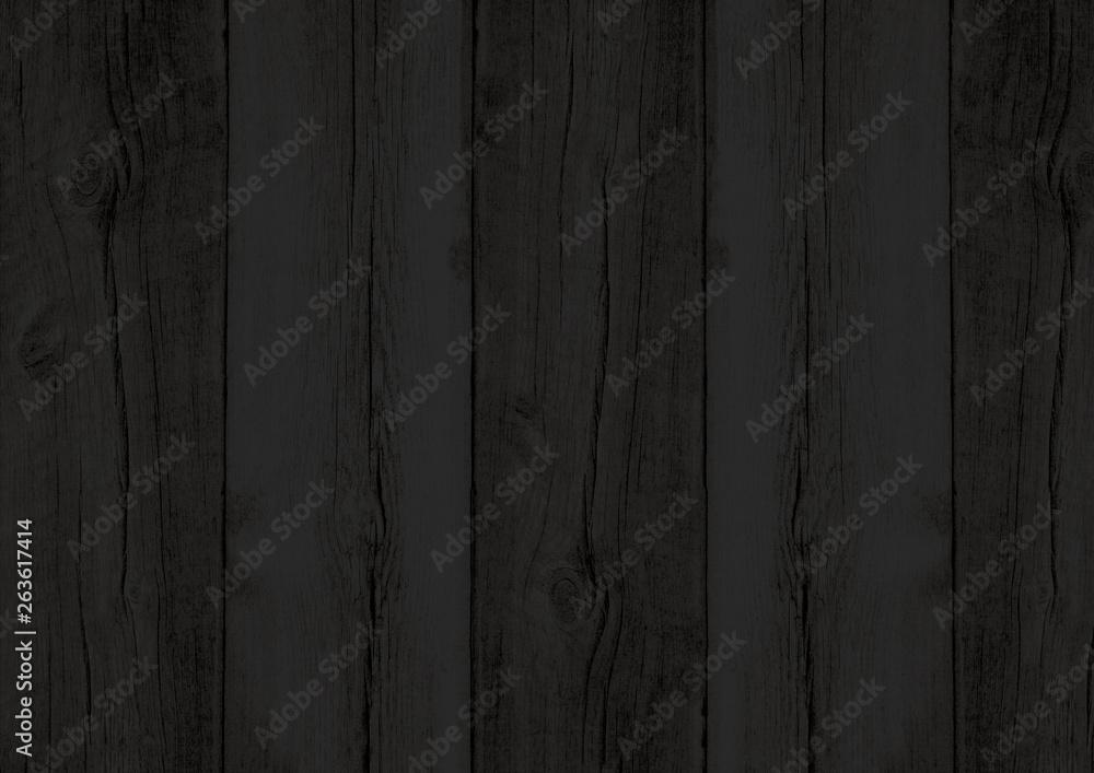 Fototapeta Black wood texture backdrop wall background with woodgrain pattern - obraz na płótnie