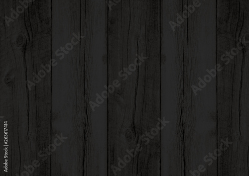 Fototapeta Black wood texture backdrop wall background with woodgrain pattern obraz na płótnie