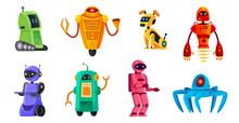 Cartoon Robots. Robotics Bots,...