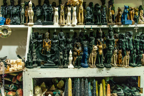 Aswan Egypt Figures and sculptures of Egyptian God Souvenir or gift Tablou Canvas